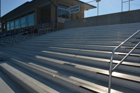 Benches removed in student section of stadium bleachers