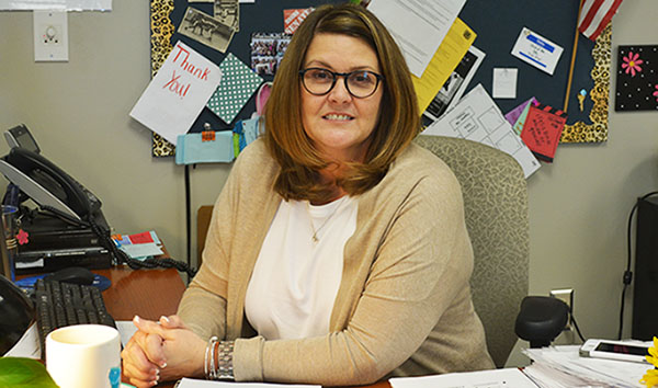 Microbiology and CSI teacher Donna Stotts received the honor of 2016-2017 Blue Springs South Teacher of the Year. Photo by Autumn Campbell.