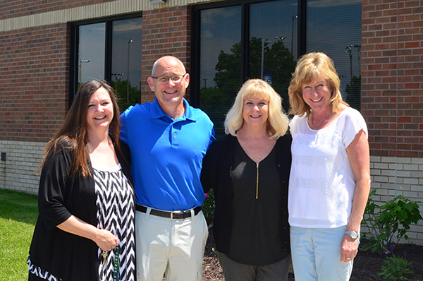 From left to right are the following staff members: Darla Phillips, Kelly Groom, Karen Sturges, Mary Kenady. Staff photo.
