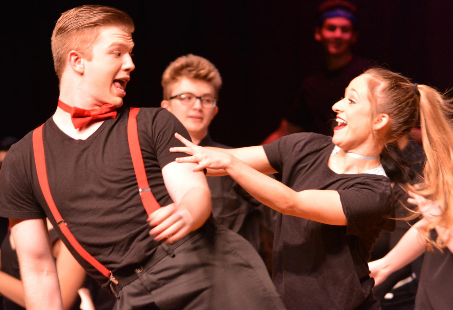 Austin Moon and Megan Bishop dancing at Southern Exposure. Photo by Alyssa Meyer.