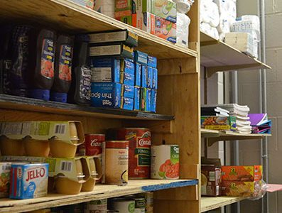 Food pantry available to any students in need