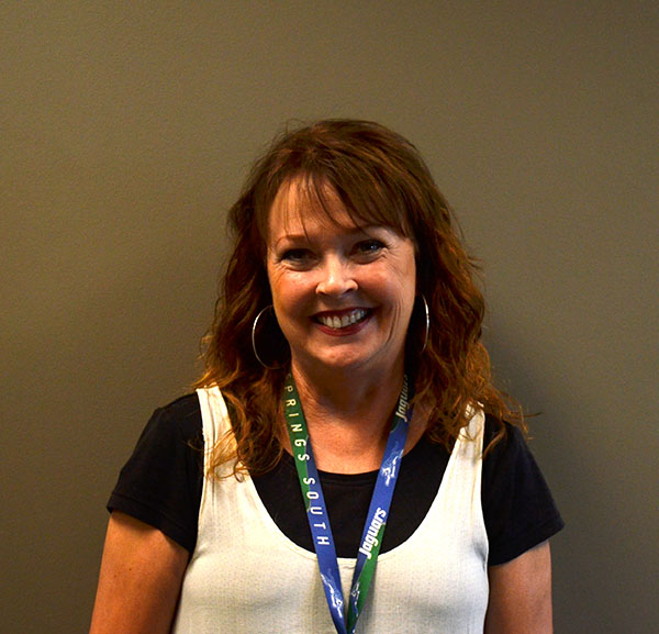 Dwila Funk is Blue Springs South's full-time social worker. She has been a district employee for 21 years.
