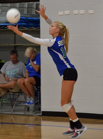 Katie Sparks helps lead Jaguars volleyball team