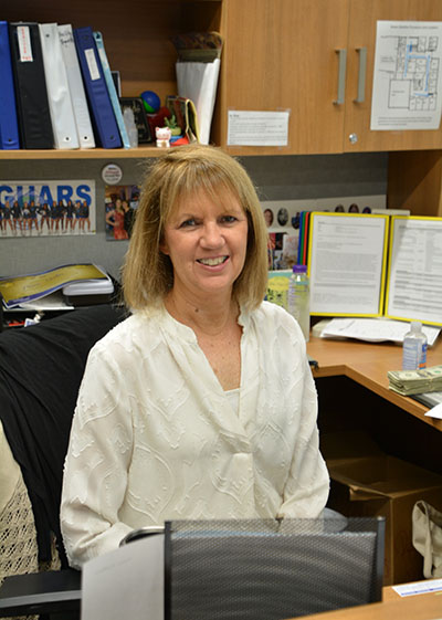 Activities assistant Pam Hahn is retiring after more than 20 years working at South. Photo by Sonnie Hernandez
